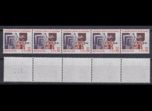 Bund 2140 RM 5er Str. mit ungerader neuer Nr. 3 stellig SWK 110 Pf/0,56 C **
