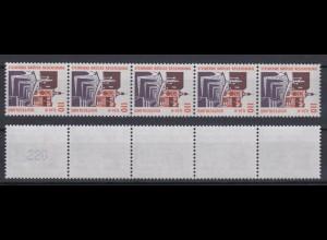 Bund 2140 RM 5er Str. mit gerader neuer Nr. 3 stellig SWK 110 Pf/0,56 C **