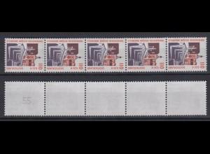 Bund 2140 RM 5er Str. mit ungerader neuer Nr. 2 stellig SWK 110 Pf/0,56 C **