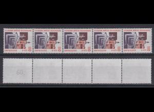 Bund 2140 RM 5er Str. mit gerader neuer Nr. 2 stellig SWK 110 Pf/0,56 C **