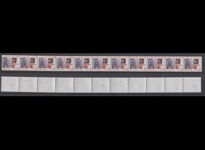 Bund 2140 RM 11er Streifen gug Nummer 2 stellig mit Punkt SWK 110 Pf/0,56 C **