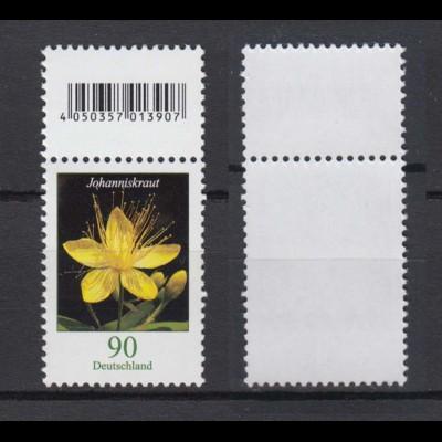 Bund 3304 EAN-Code oben Rollenmarke Johanniskraut 90 Cent postfrisch