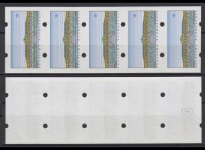 Bund ATM Sanssouci 5er Streifen mit gerade Nummer ohne Wertangabe postfrisch