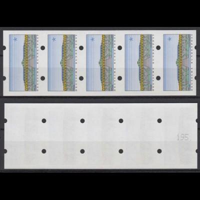 Bund ATM Sanssouci 5er Streifen mit ungerade Nummer ohne Wertangabe postfrisch