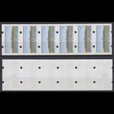 Bund ATM Sanssouci 6er Streifen ohne Wertangabe postfrisch