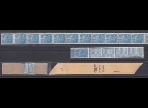 DDR 578 B Rollenende 11+4 mit Banderole Fünfjahresplan 10 Pf postfrisch