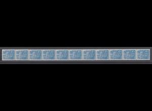 DDR 578 B Rollenmarke 11er Streifen Fünfjahresplan 10 Pf postfrisch