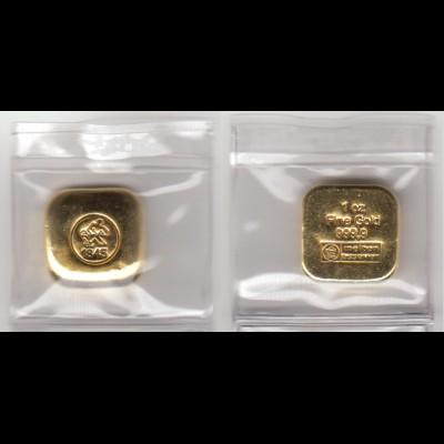 Goldbarren 1 OZ eingeschweist