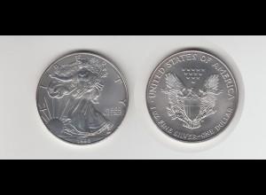 Silbermünze 1 OZ USA Liberty 1 Dollar 1996