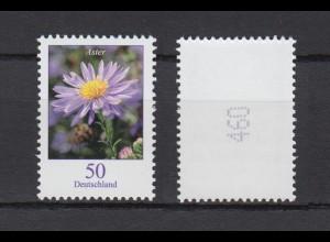 Bund 2463 Rollenmarke mit ungerader Nr. Blumen Herbstaster 50 C postfrisch