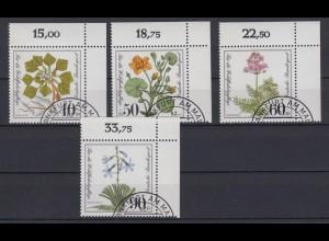 Bund 1108-1111 Eckrand rechts oben Moor-, Sumpfblumen kompl. Satz gestempelt
