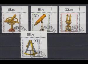 Bund 1090-1093 Eckrand rechts oben Optische Instrumente kompl. Satz gestempelt