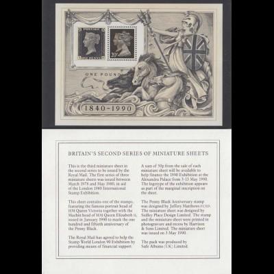 Vignette One Pound 1840-1990 mit Beschreibung
