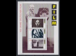 Bund Block 33 100 Jahre deutscher Film 80, 100 + 220 Pf postfrisch