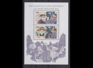 Bund Block 28 Carl Hagenbeck 100 + 200 Pf postfrisch