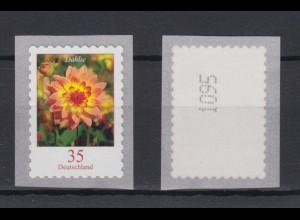 Bund 2514 SELBSTKLEBEND RM mit ungerader Nummer Dahlie 35 Cent postfrisch