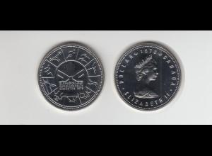 Silbermünze Kanada 1 Dollar 1978 Commonwealth Spiele Stempelglanz