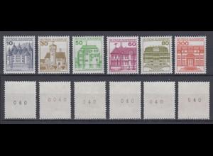 Bund ex 913AII -1143AII Burgen und Schlösser Letterset alle m.Nr. 40 postfrisch