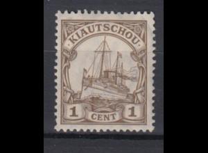 Deutsche Auslandspostämter Kiautschou 28 Kaiseryacht 1 C postfrisch