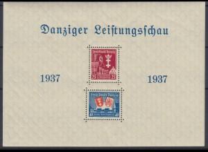 Danzig Block 3 Danziger Leistungsbau 25 Pf + 40 Pf postfrisch