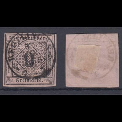 Altdeutschland Württemberg 4 Freimarken Ziffern 9 Kr gestempelt