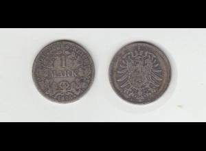 Silbermünze Kaiserreich 1 Mark 1875 A Jäger Nr. 9 /137