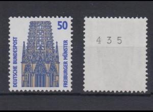 Bund 1340 A u RM mit ungerader Nummer SWK 50 Pf postfrisch gelbe Gummierung