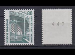 Bund 1342 A v RM mit ungerader Nummer SWK 80 Pf postfrisch weiße Gummierung