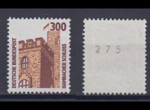 Bund 1348 A u RM mit ungerader Nummer SWK 300 Pf postfrisch gelbe Gummierung