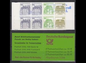 Bund Markenheftchen 24i K 1 RZ 5 Burgen + Schlösser postfrisch
