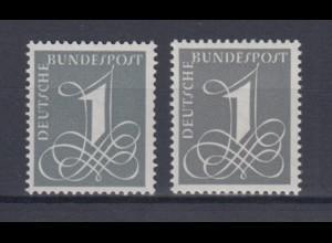 Bund 226 x + y Freimarke Ziffernzeichen 1 Pf postfrisch