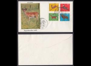 Bund FDC mit 511-514 Hochwild kompl. Satz gestempelt Bonn 22.4.1966 /3