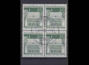 Bund 491 4er Block Deutsche Bauwerke (II) 20 Pf gestempelt
