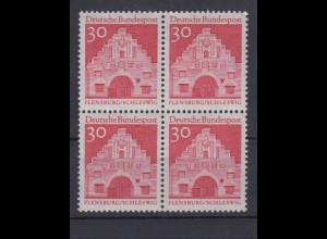 Bund 493 4er Block Deutsche Bauwerke (II) 30 Pf postfrisch