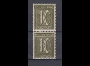Dt. Reich 159a Plattenfehler ! Ziffern 10 Pfennig im Paar mit Normalmarke **