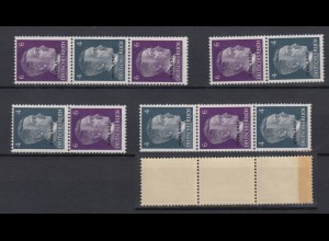 Ostland 4x ZD S 1 - S 4 Adolf Hitler mit Bdr.-Aufdruck 4 Pf + 6 Pf postfrisch