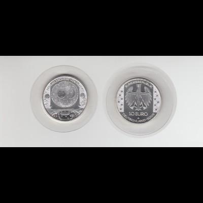 Silbermünze 10 Euro 2008 Nebra Himmelsscheibe stempelglanz