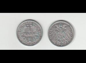 Silbermünze Kaiserreich 1 Mark 1907 J Jäger Nr. 17 /32