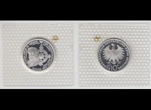 """Silbermünze 10 DM 1992 Pour le Merite """"D"""" polierte Platte (12)"""