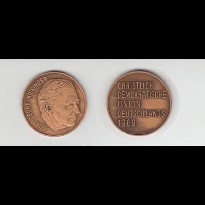 Medaille Kurt Georg Kiesinger Christlich Demokratische Union Deutschlnds /M2