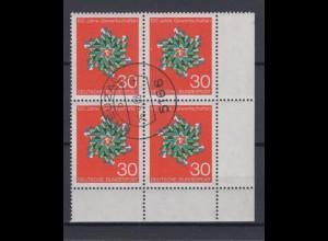 Bund 570 Eckrand rechts unten 4er Block Gewerkschaften in Deut. 30 Pf ESST