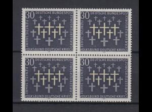 Bund 586 4er Block Kriegsgräberfürsorge 30 Pf postfrisch