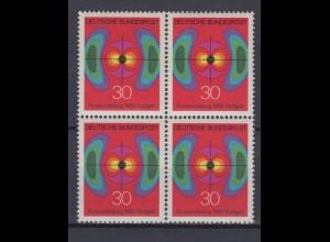 Bund 599 4er Block Nationale Funkausstellung Stuttgart 30 Pf postfrisch