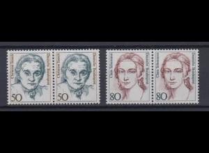 Bund 1304-1305 Frauen der deutschen Geschichte (I) 50 Pf waagerechtes Paar **