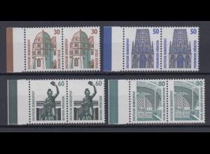Bund 1339-1342 Paare mit Seitenrand links SWK 30 Pf, 50 Pf, 60 Pf, 80 Pf **
