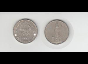 Silbermünze 5 RM Garnisonkirche 1934 J Jäger Nr. 357/5 Ohne Datum
