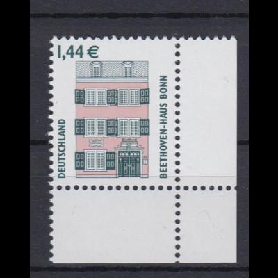 Bund 2306 Eckrand rechts unten SWK 144 Cent postfrisch