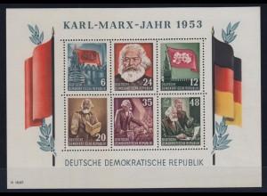 DDR Block 8 A + B + Block 9 A + B Karl Marx postfrisch Fotoattest einwandfrei