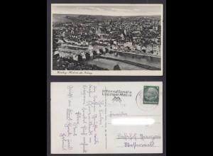 Ansichtskarte Würzburg Blick von der Festung