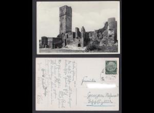 Ansichtskarte Königstein im Taunus Ruine gestempelt 1939